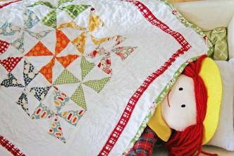Doll Pinwheel Quilt Pattern