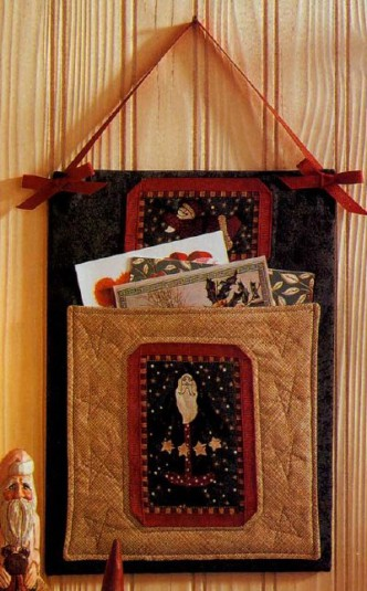 Quilted Christmas Card Holder