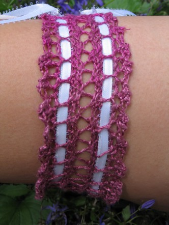 Knitted Wedding Garter Pattern