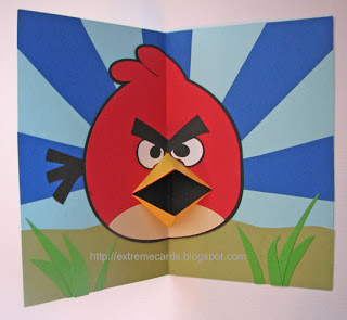 Angry Birds Pop Up Card Tutorial