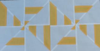 Striped Pinwheel Quilt Block Pattern