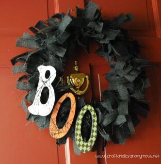 Boo Halloween Wreath Tutorial
