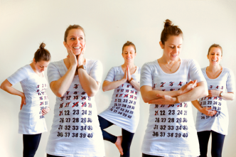 Maternity Calendar Shirt Tutorial