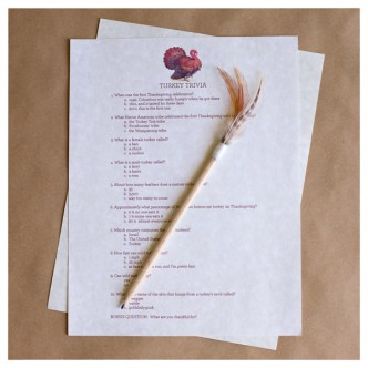 Printable Thanksgiving Quiz