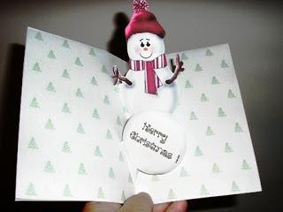 Pop-up Snowman Printable Christmas Card