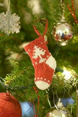 Mini Christmas Stocking Knitting Patten