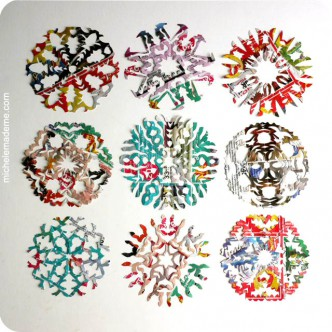 Rainbow Snowflakes Tutorial