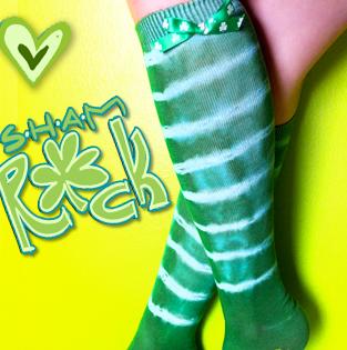 St. Patrick's Day Tie Dye Socks
