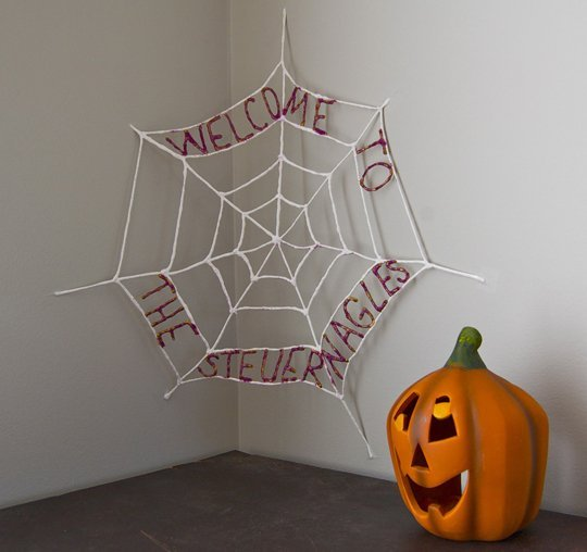 Personalized Halloween Spiderweb Decoration Tutorial