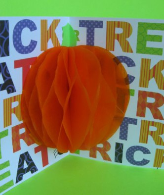 3 Dimensional Pumpkin Halloween Card