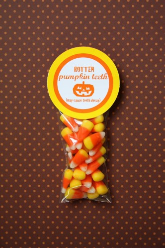 Rotten Pumpkin Teeth Candy Corn Halloween Printable