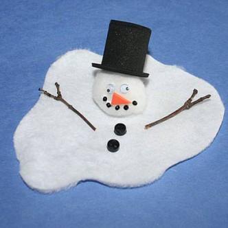 Melting Snowman Kids Winter Craft