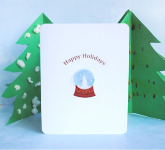 Snow Globe Bubble Wrap Christmas Card Tutorial