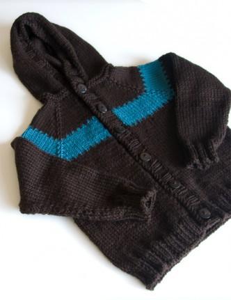 Toddler Hoodie Free Knitting Pattern