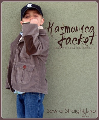 Boys Corduroy Jacket Sewing Pattern