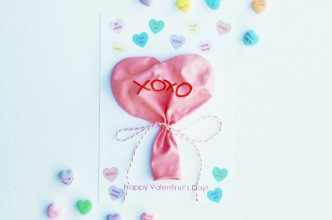 Candy Heart Balloons Valentines Printable