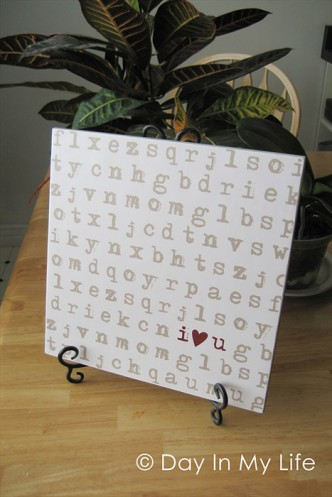 Easy Wonderful Valentine Tile