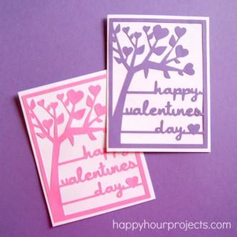 Silhouette Valentine Card File