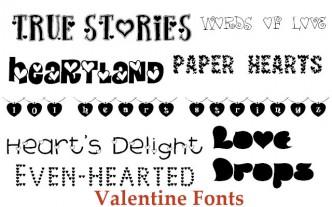 Free Valentine's Fonts