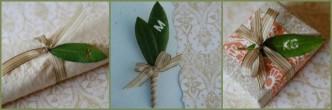 Monogram Wedding Leaf DIY Boutonniere Tutorial