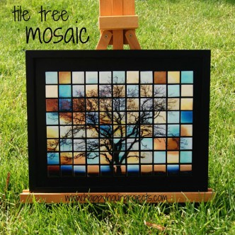 Glass Tile Mosaic Tutorial