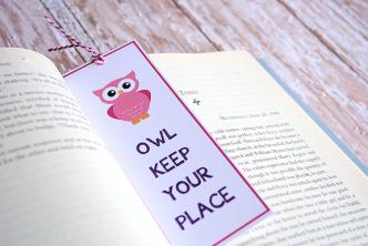 Printable Owl Bookmark