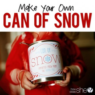 Can of Snow Tutorial