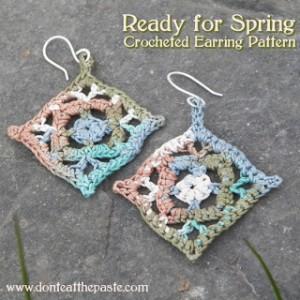 Spring Crocheted Earrings