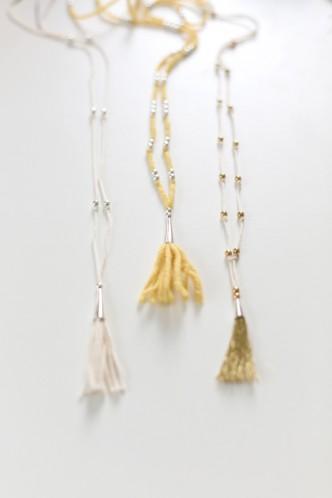 DIY Tassel Necklace Tutorial