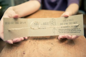 DIY 'Tying the Knot' Save the Date Cards