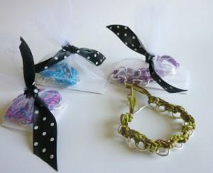 Crochet and Metal Charm Bracelet Tutorial