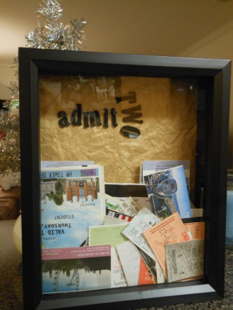 DIY Ticket Shadowbox