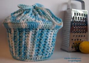 Cupcake Crockpot Cozy Crochet Pattern