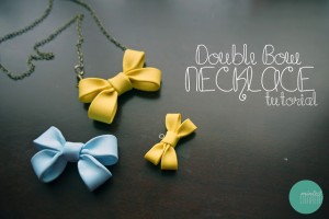 Double Bow Necklace Tutorial