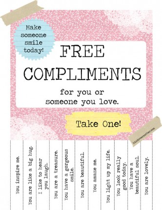 Printable Free Compliments Poster