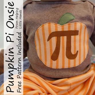 Pumpkin Pi Baby Onesie Tutorial