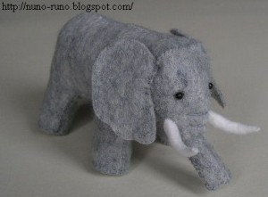 Free Felt Elephant Stuffed Animal Pattern