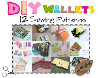 DIY Wallets — 12 Sewing Patterns!!