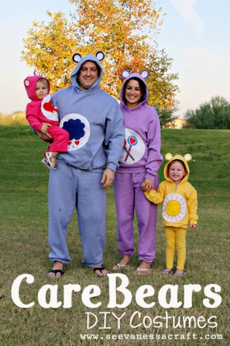 No-Sew Family Care Bear Costumes