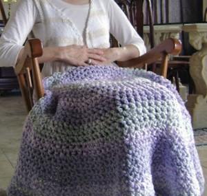 Circle Lap-ghan Crochet Pattern