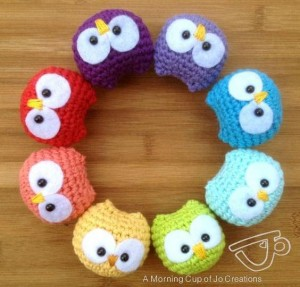 Baby Owls Ornaments Crochet Pattern