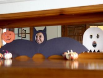 DIY Halloween Mirror Face Decals