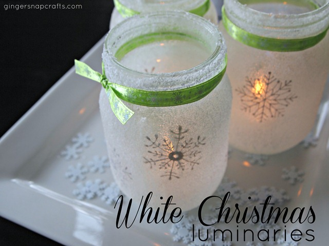 Mason Jar Winter Luminaries