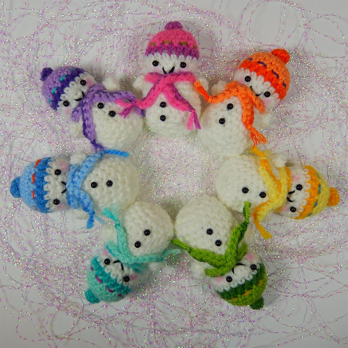 Cute Snowman Free Crochet Pattern
