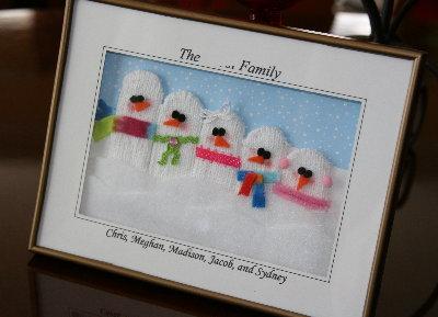 Snowman Family Diorama Tutorial
