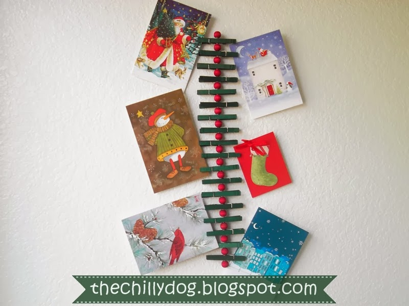 Clothespin Christmas Card Holder