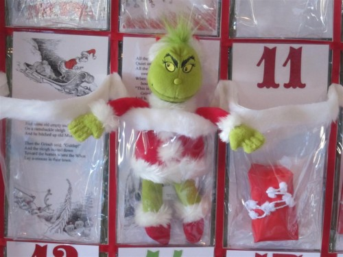 DIY Grinch Advent Calendar