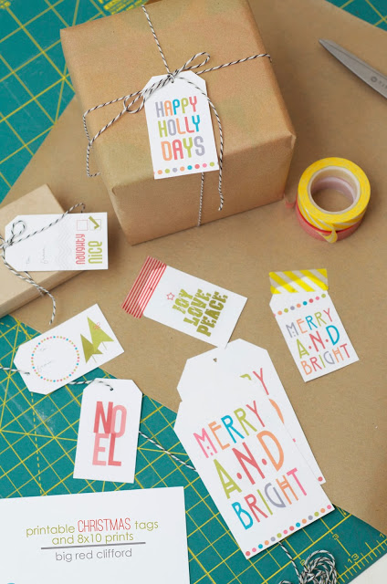 Merry and Bright Christmas Gift Tags