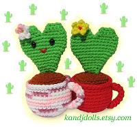Valentine Heart Cactus Amigurumi Crochet Pattern