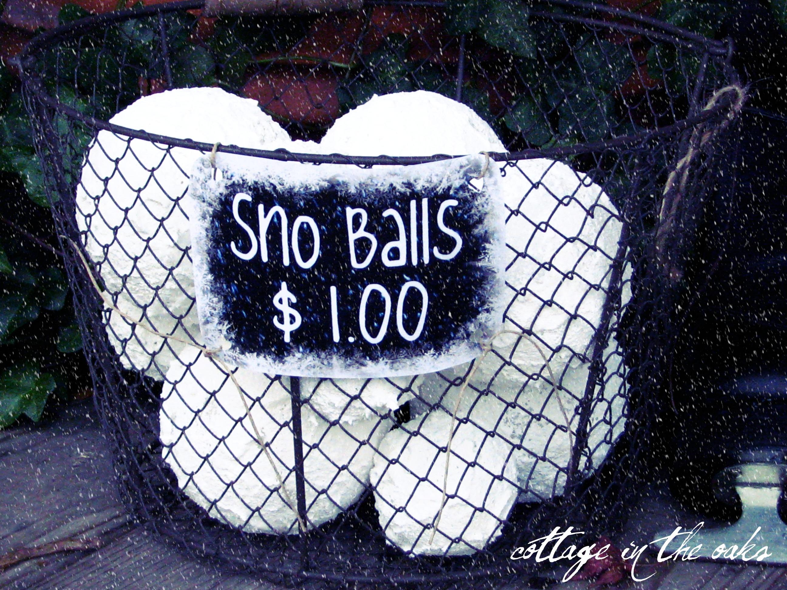 DIY Faux Snowballs